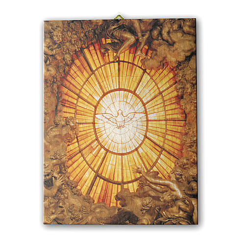 Quadro su tela pittorica Spirito Santo del Bernini 70x50 cm 1