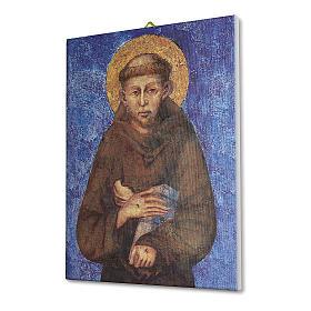 Quadro su tela pittorica San Francesco di Cimabue 25x20 cm s2