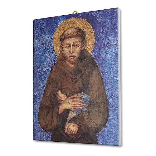 Quadro su tela pittorica San Francesco di Cimabue 40x30 cm 2