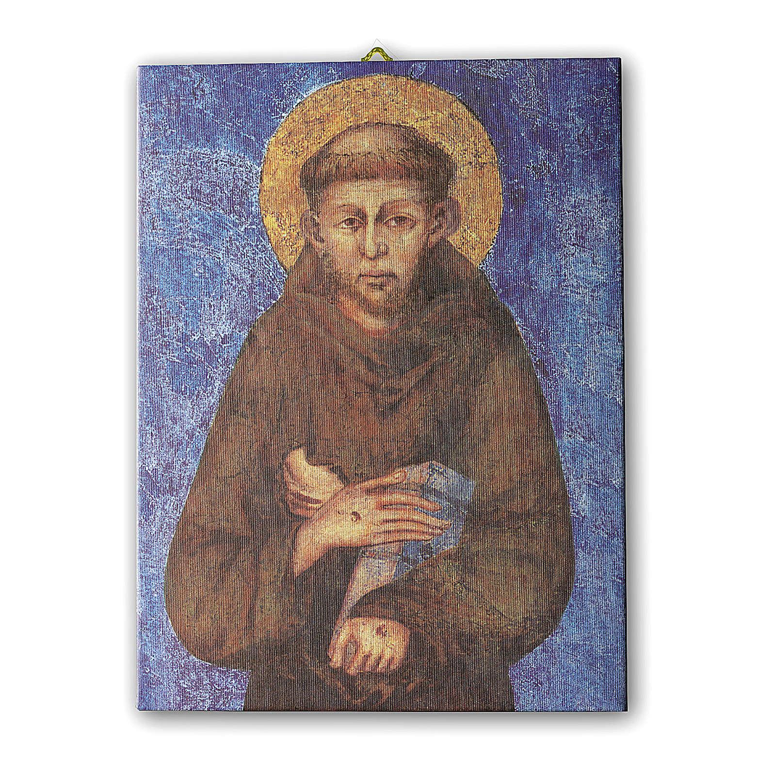 Quadro su tela pittorica San Francesco di Cimabue 70x50 cm 3