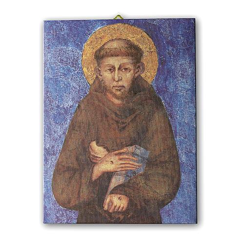 Quadro su tela pittorica San Francesco di Cimabue 70x50 cm 1
