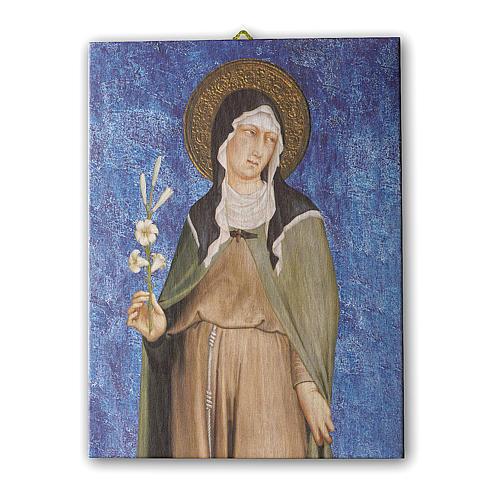 Quadro su tela pittorica Santa Chiara di Simone Martini 25x20 cm 1
