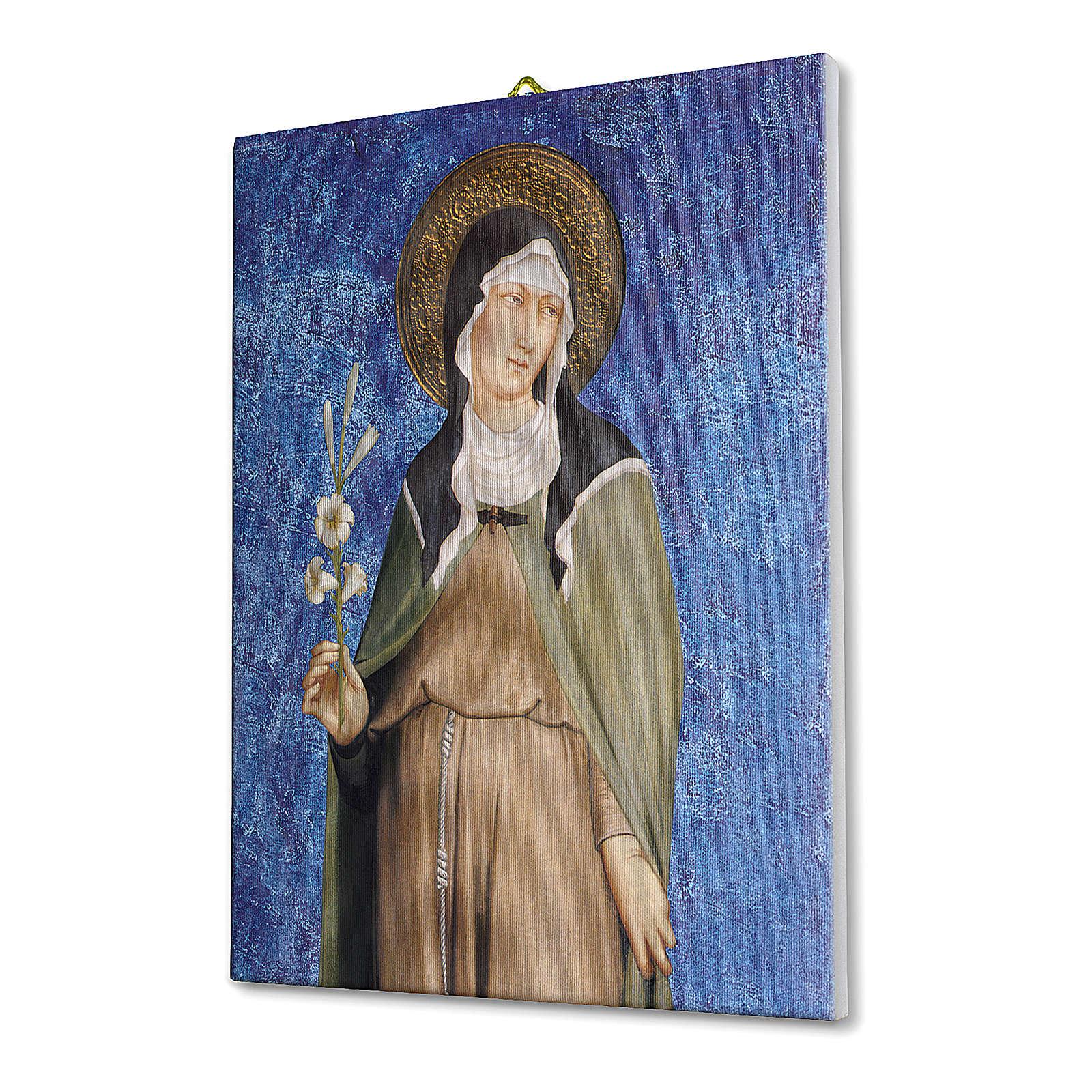 Quadro su tela pittorica Santa Chiara di Simone Martini 40x30 cm 3