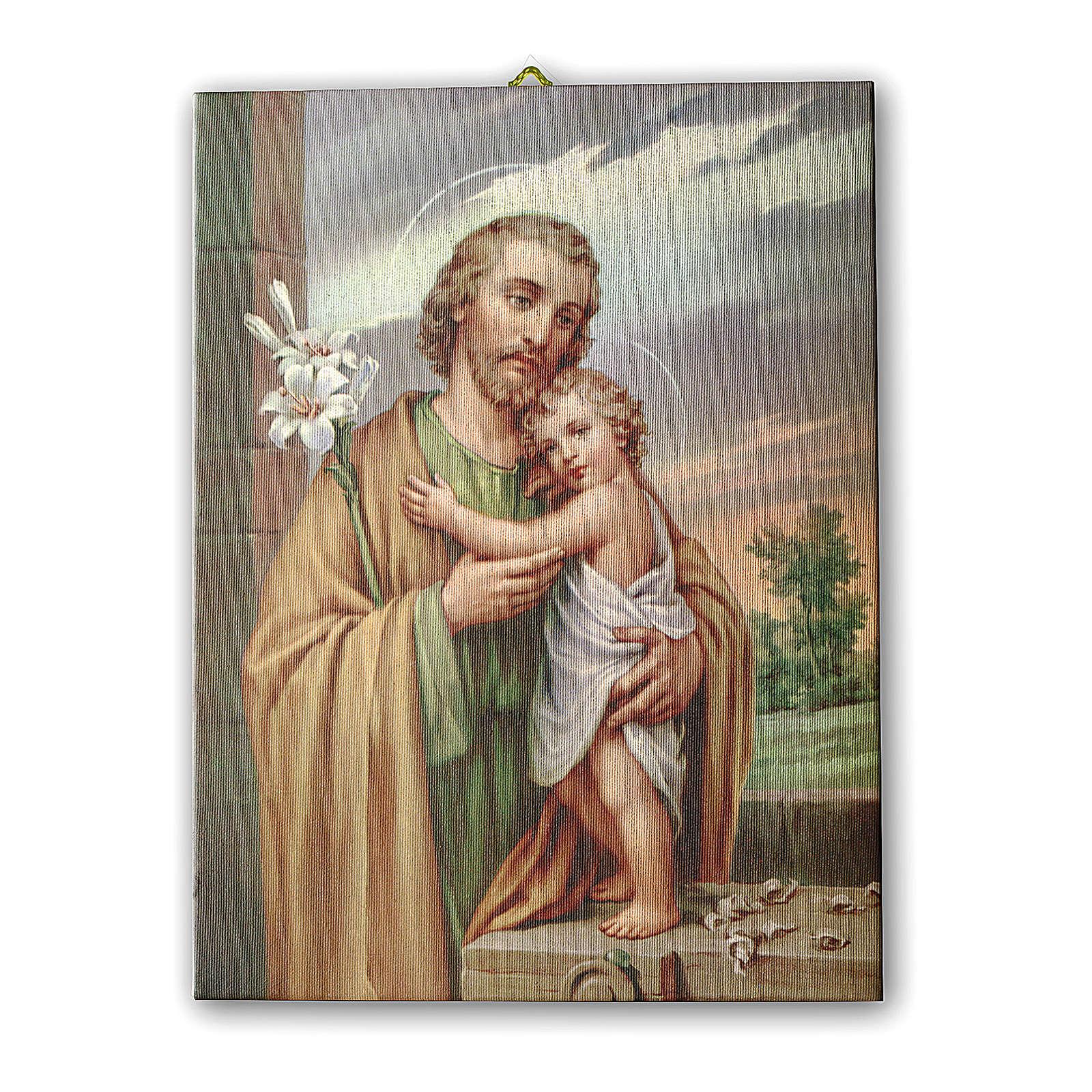 Bild auf Leinwand Heiliger Josef 25x20 cm 3