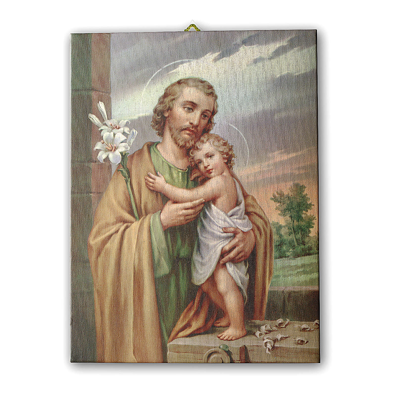 Quadro su tela pittorica San Giuseppe 25x20 cm 3