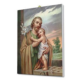 Quadro su tela pittorica San Giuseppe 40x30 cm s2
