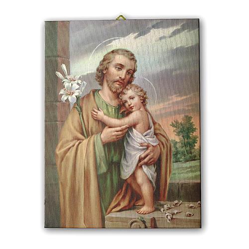 Quadro su tela pittorica San Giuseppe 70x50 cm 1