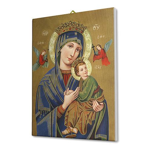 Cuadro sobre tela pictórica Virgen del Perpetuo Socorro 25x20 cm 2