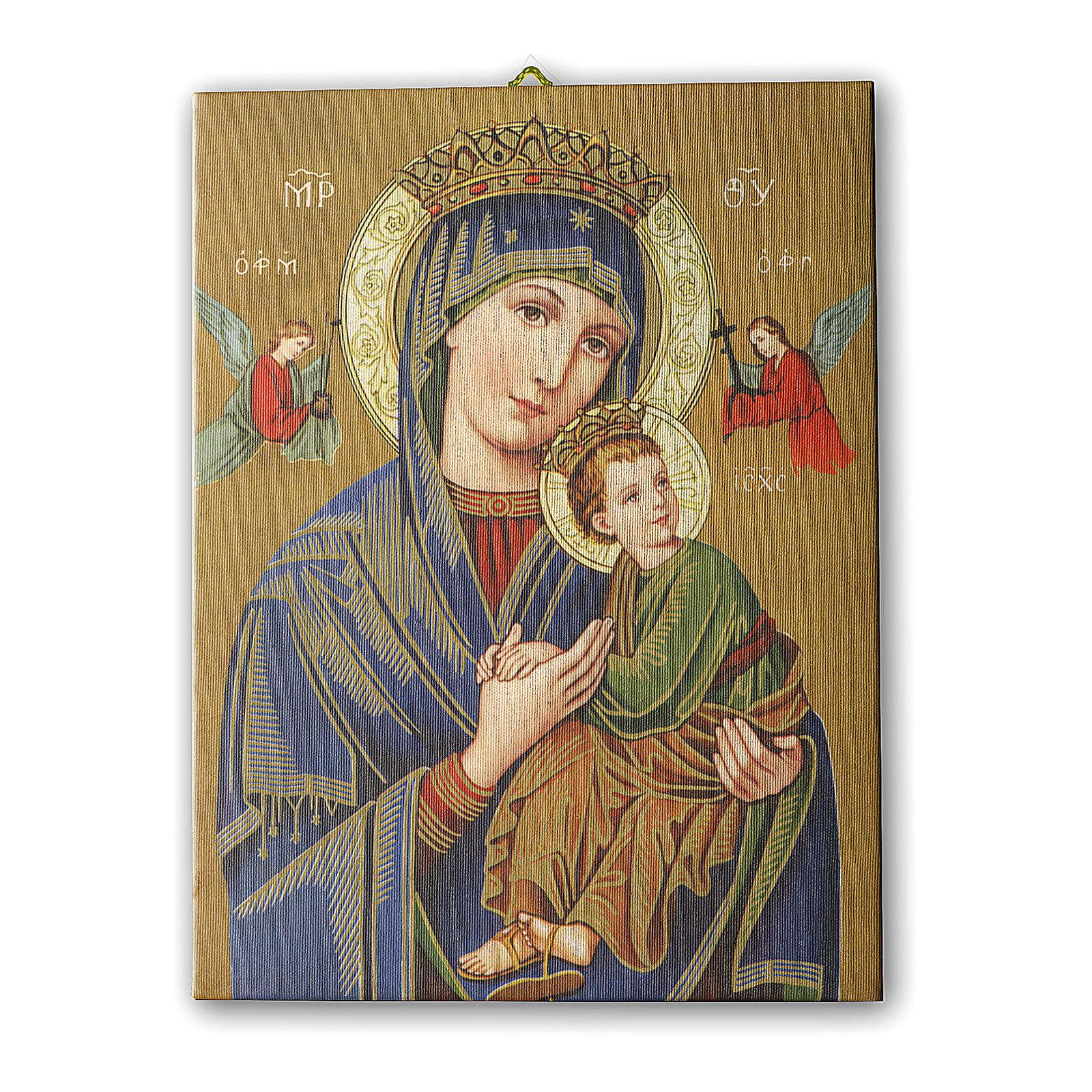 Quadro su tela pittorica Madonna del Perpetuo Soccorso 25x20 cm 3