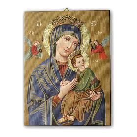 Quadro su tela pittorica Madonna del Perpetuo Soccorso 25x20 cm s1