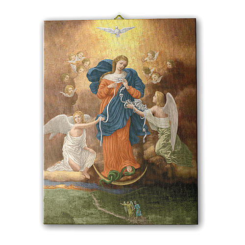 Mary Untier of Knots canvas print 25x20 cm 1