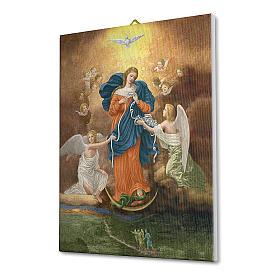 Quadro su tela pittorica Madonna dei Nodi 25x20 cm s2