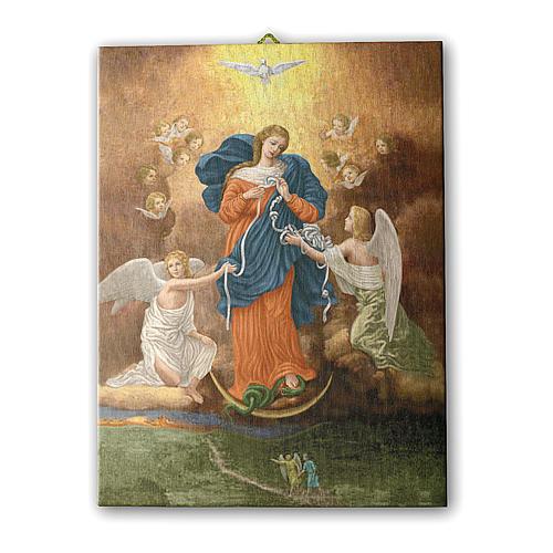 Quadro su tela pittorica Madonna dei Nodi 25x20 cm 1