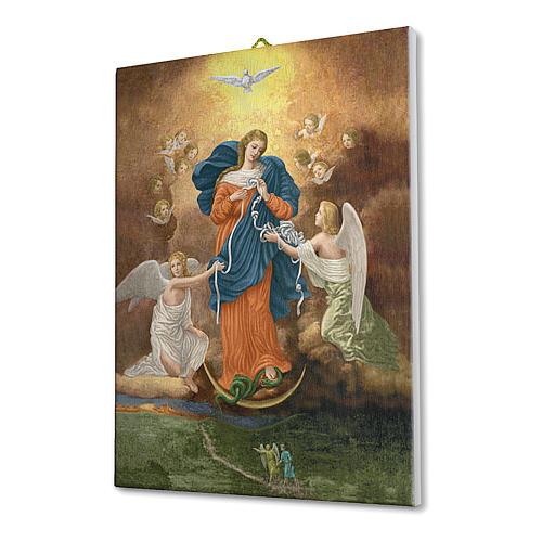 Quadro su tela pittorica Madonna dei Nodi 25x20 cm 2