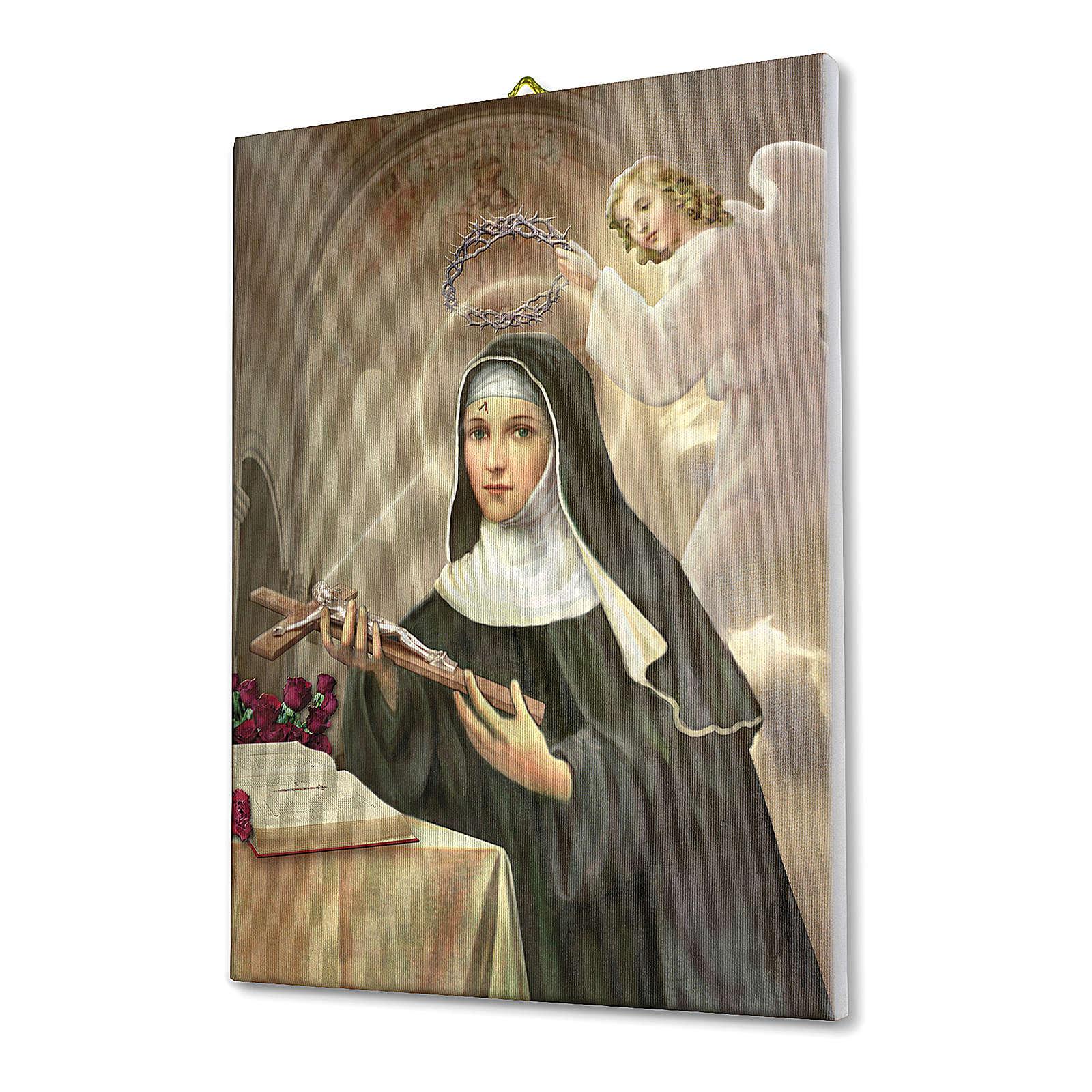Obraz na płótnie święta Rita z Cascia 70x50cm 3