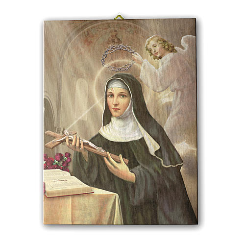 Saint Rita of Cascia print on canvas 70x50 cm 1