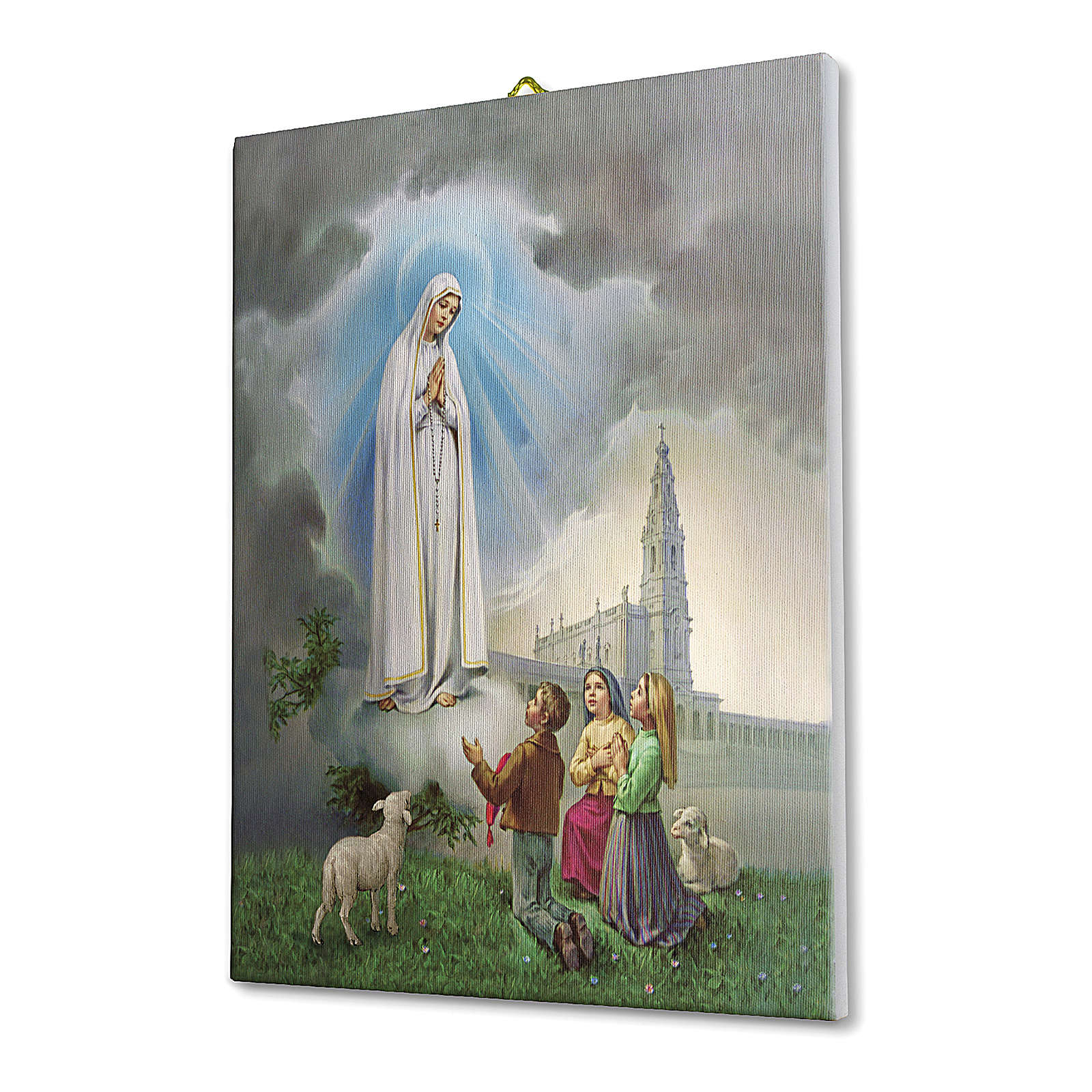 Apparition at Fatima print on canvas 25x20 cm 3
