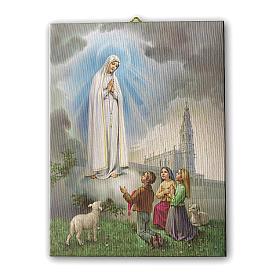Quadro su tela pittorica Apparizione di Fatima 40x30 cm s1