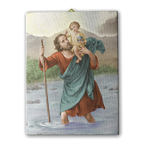 Saint Christopher canvas print 25x20 cm 1
