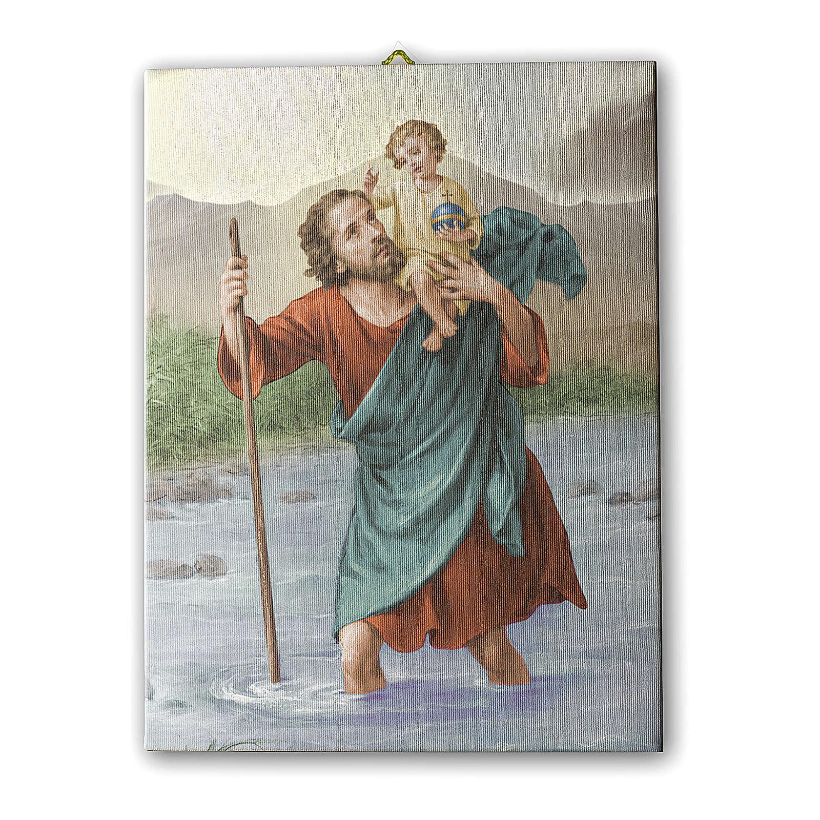 Saint Christopher print on canvas 25x20 cm 3