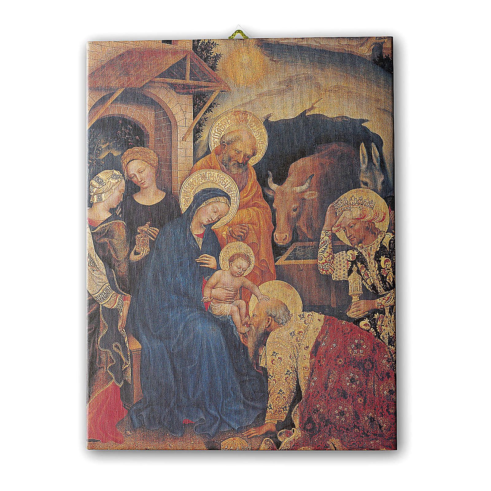 Quadro su tela pittorica Adorazione Magi di Gentile Fabriano 70x50 cm 3