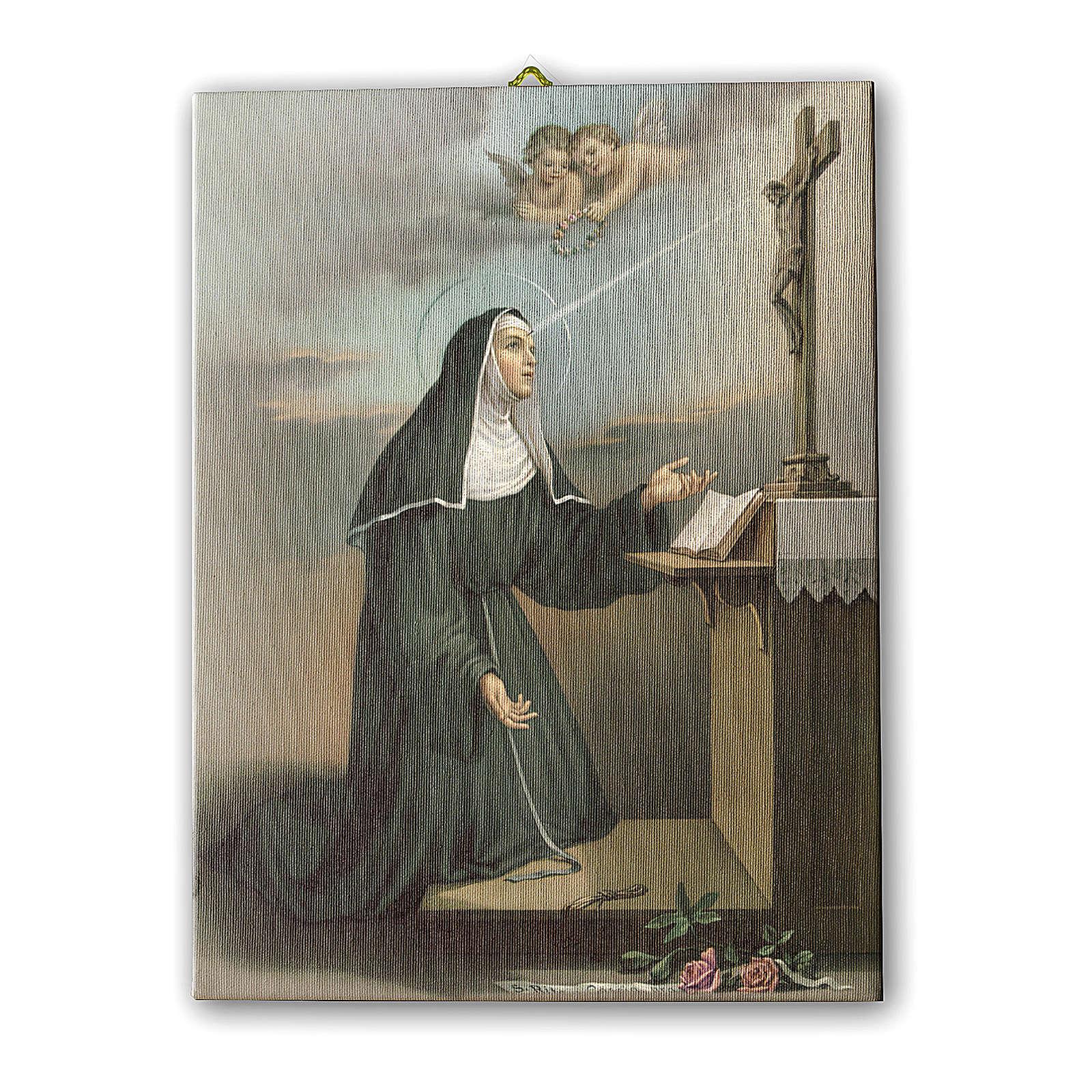 Cadre sur toile Ste Rita en prière 25x20 cm 3
