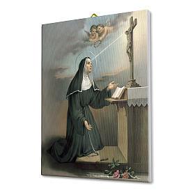 Cadre sur toile Ste Rita en prière 25x20 cm s2