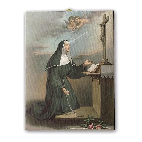 Cadre sur toile Ste Rita en prière 25x20 cm 1
