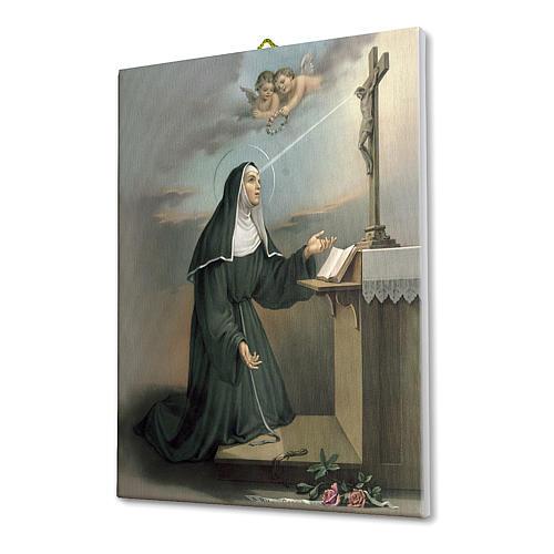 Cadre sur toile Ste Rita en prière 25x20 cm 2
