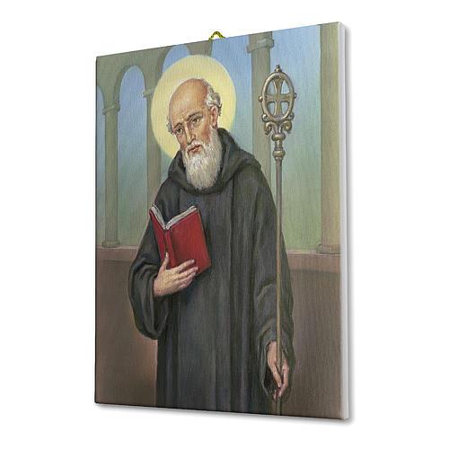 Quadro su tela pittorica San Benedetto 40x30 cm 2