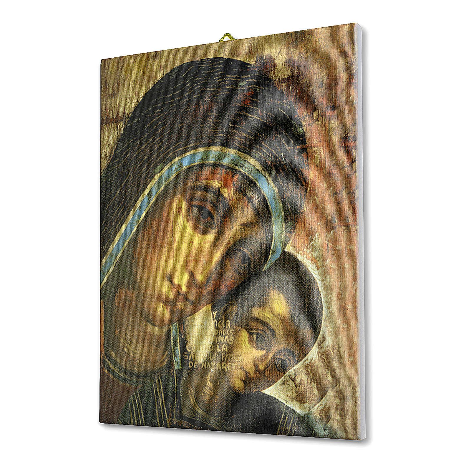 Quadro su tela pittorica Madonna del Kiko 25x20 cm 3