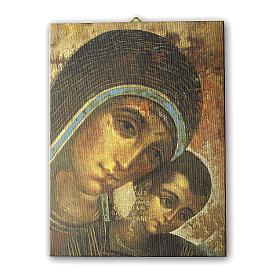 Quadro su tela pittorica Madonna del Kiko 25x20 cm s1