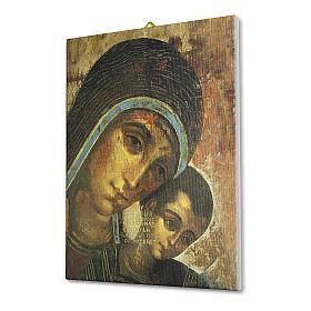 Quadro su tela pittorica Madonna del Kiko 25x20 cm s2