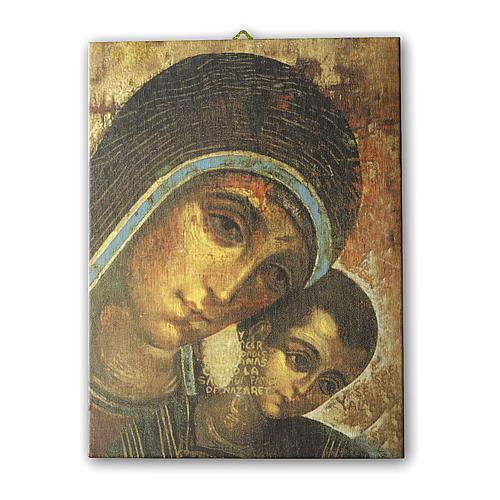 Quadro su tela pittorica Madonna del Kiko 25x20 cm 1