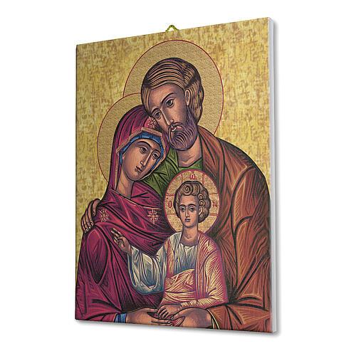 Bild auf Leinwand Ikone der Heiligen Familie, 25x20 cm 2