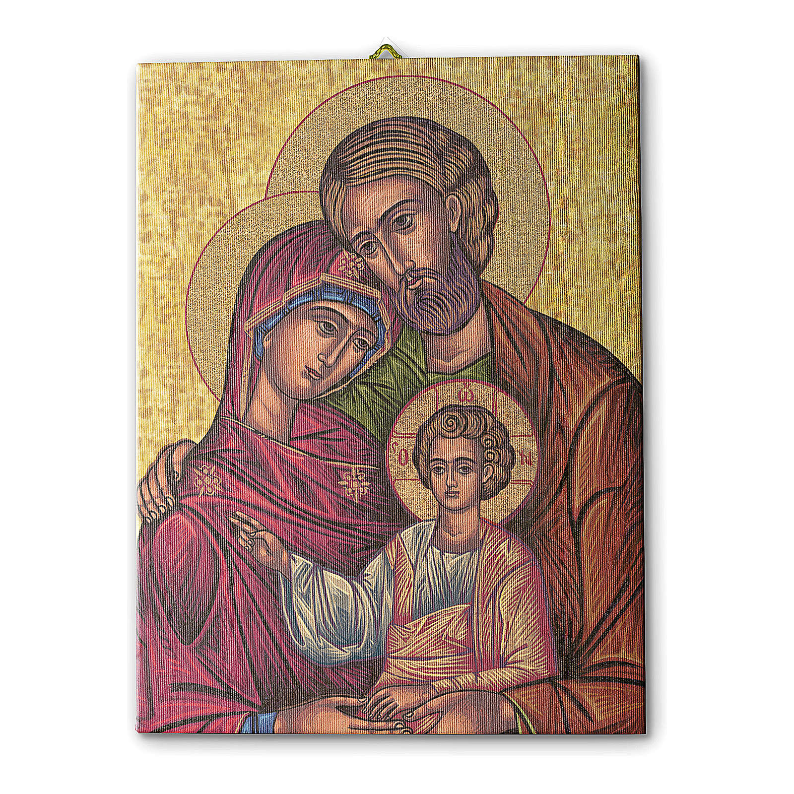 Icon of the Holy Family print on canvas 25x20 cm 3