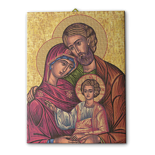 Icon of the Holy Family print on canvas 25x20 cm 1