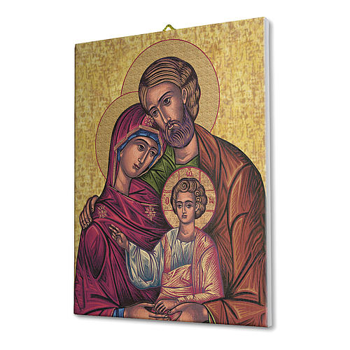Icon of the Holy Family print on canvas 25x20 cm 2