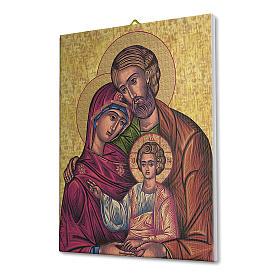 Quadro su tela pittorica Icona della Sacra Famiglia 40x30 cm s2