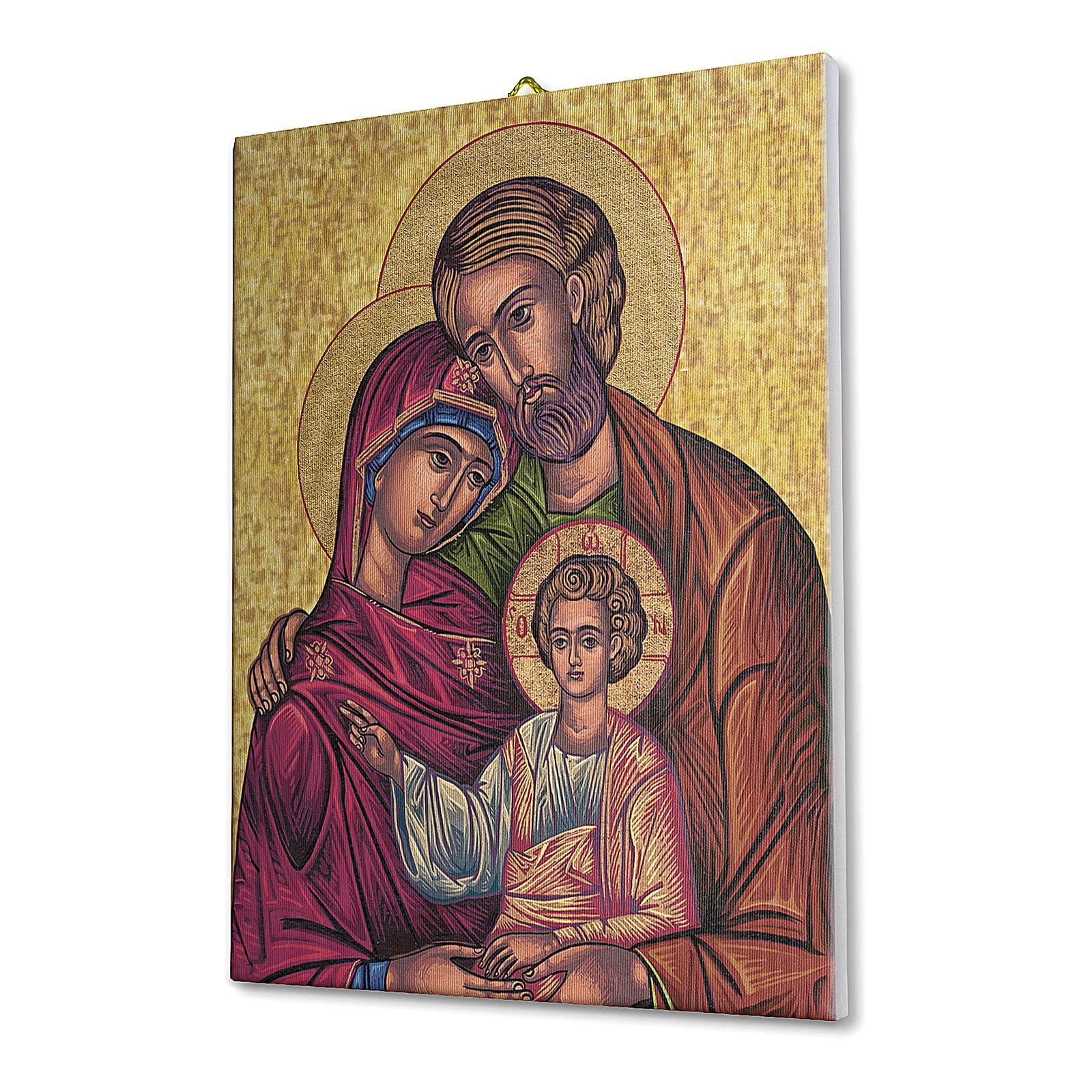 Quadro su tela pittorica Icona della Sacra Famiglia 70x50 cm 3
