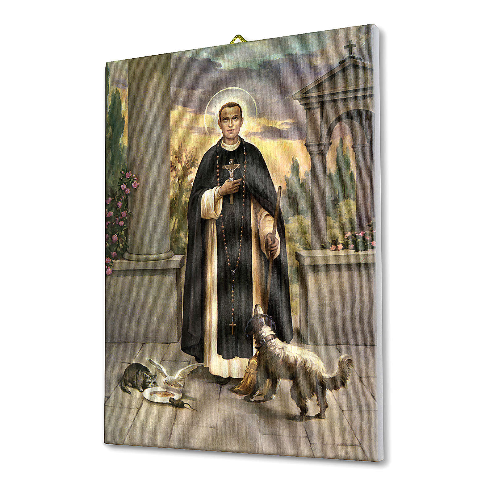 Saint Martin de Porres print on canvas 25x20 cm 3
