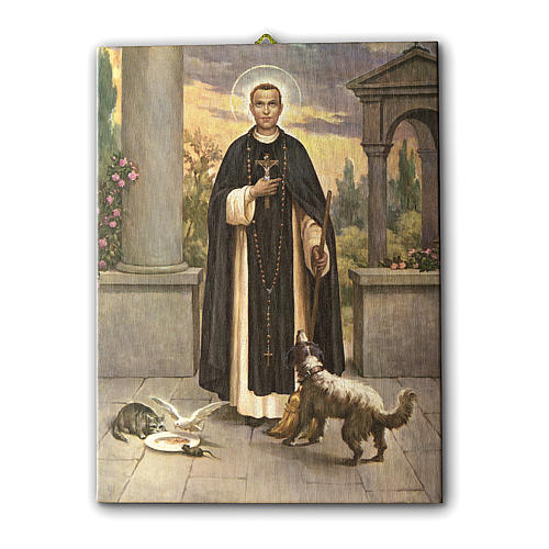 Saint Martin de Porres print on canvas 25x20 cm 1