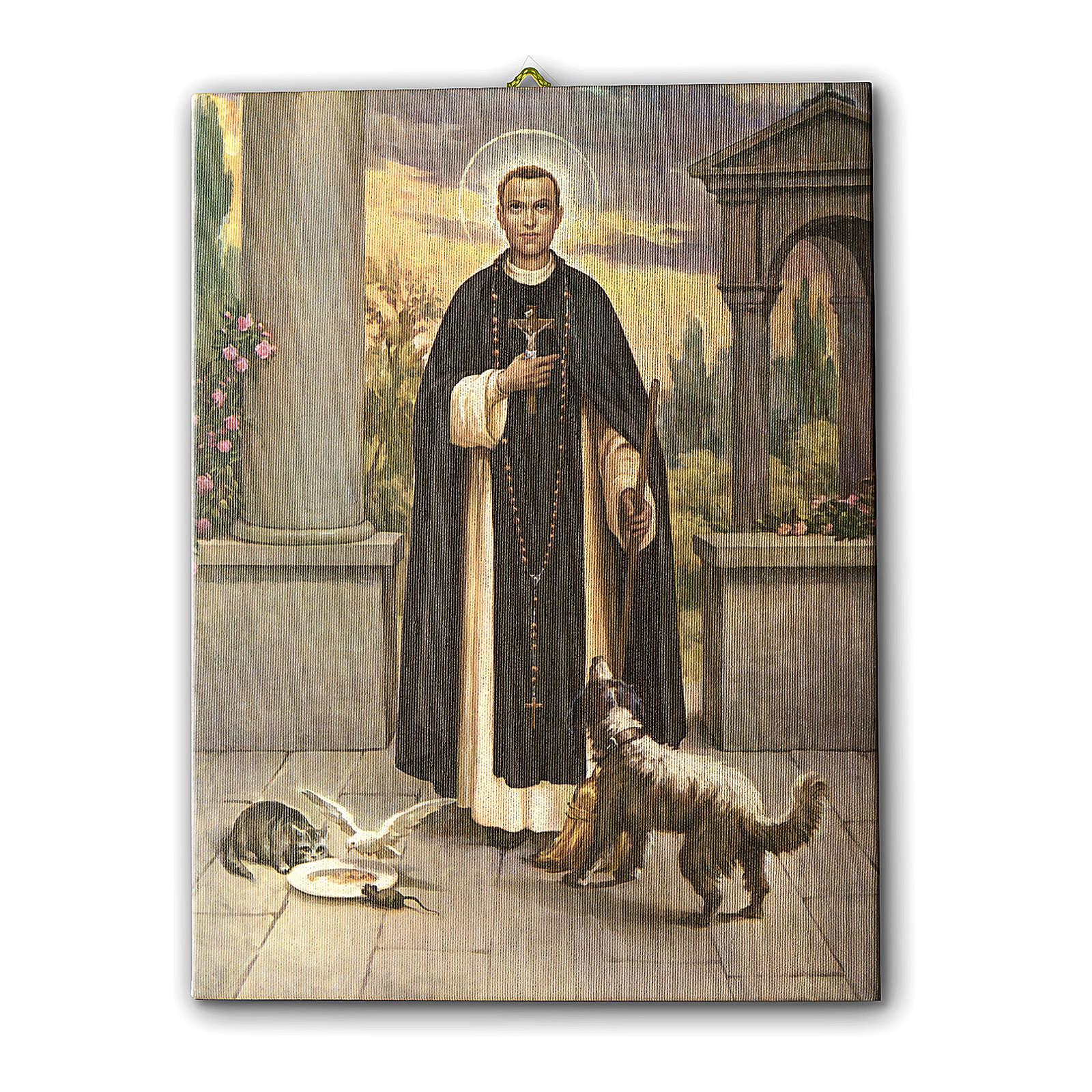 Quadro su tela pittorica San Martin de Porres 70x50 cm 3