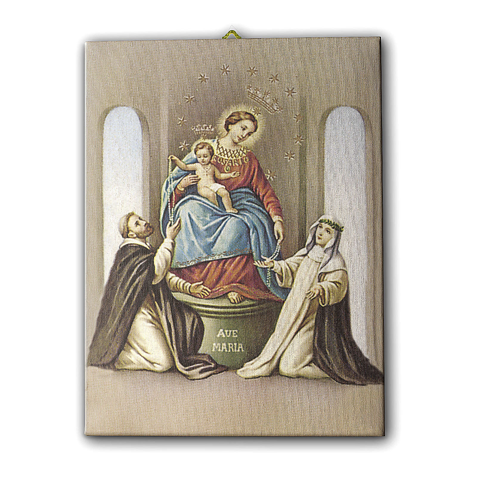 Virgin of the Rosary of Pompei canvas print 25x20 cm 3