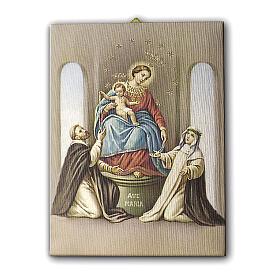 Quadro na tela Nossa Senhora do Santo Rosário de Pompéia 25x20 cm s1