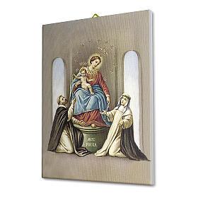 Quadro na tela Nossa Senhora do Santo Rosário de Pompéia 25x20 cm s2