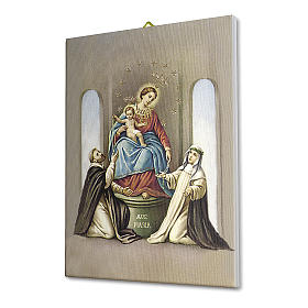 Virgin of the Rosary of Pompei print on canvas 25x20 cm s2