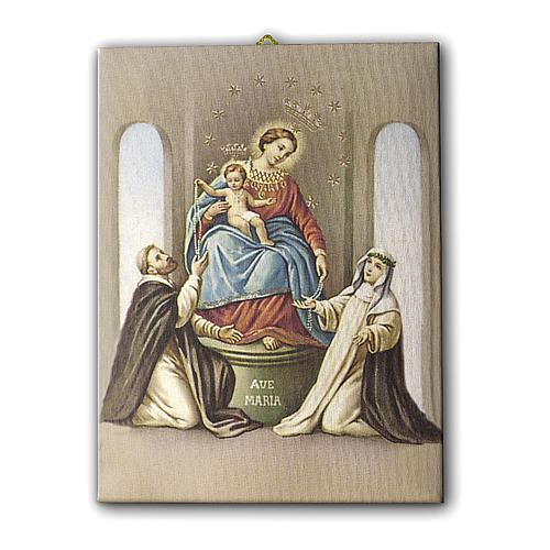 Quadro su tela pittorica Madonna del Rosario di Pompei 70x50 cm 1