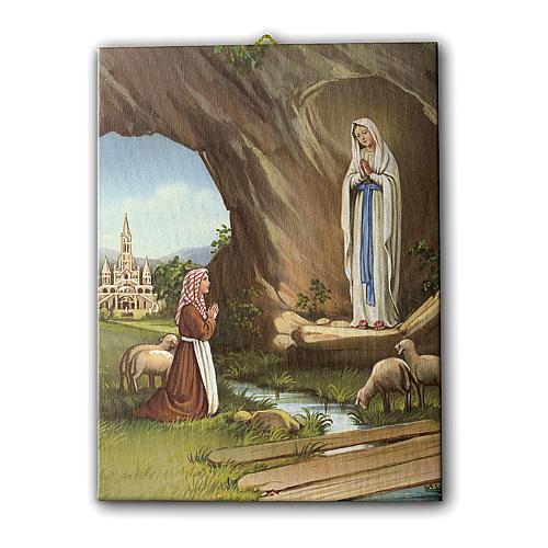 Quadro su tela pittorica Santa Teresa del Bambin Gesù 25x20 cm 1