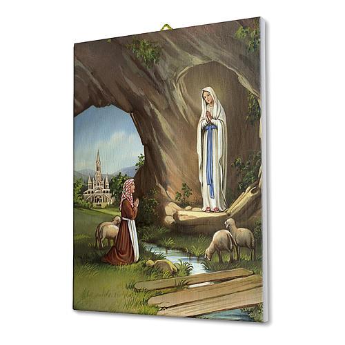 Quadro su tela pittorica Santa Teresa del Bambin Gesù 25x20 cm 2